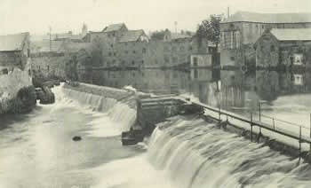 Weir on the Garavogue River, Sligo, County Sligo