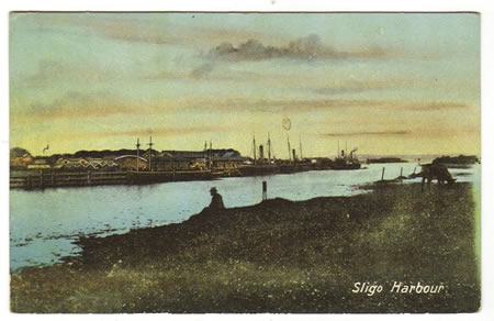 Sligo Harbour c1930 from across the Garavogue estuary